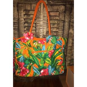 Handbags - Cute Hybiscus flower tote